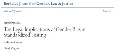 Gender Bias in Standardized Testing