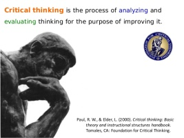 What is a critical thinking question